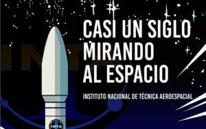 Cartel de la exposición 'Casi un siglo mirando al espacio'.