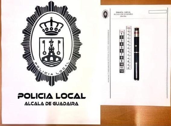 Policía Local de Alcalá evita que jóvenes provocaran accidentes deslumbrando a vehículos con un láser