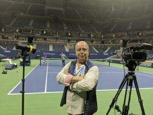 Ha entrevistado recientemente a Rafa Nadal tras su victoria en el Open USA.