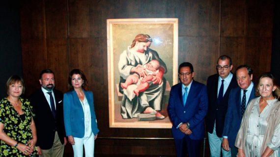 Expuesta en la capital por primera vez en el Hospital de los Venerables la obra 'Maternidad' de Picasso