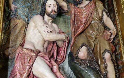 Finalizada la restauración del retablo de San Juan Bautista de la iglesia de la Anunciación