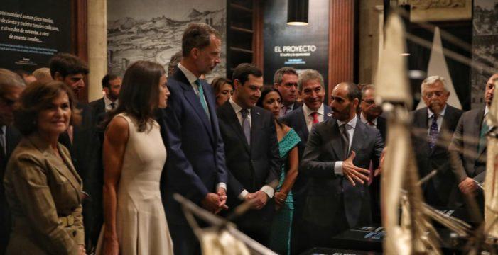 Los reyes inauguran en Sevilla la exposición 'El viaje más largo: la primera vuelta al mundo'
