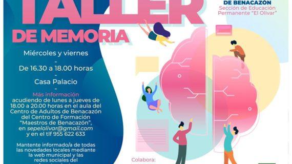 Un taller del Ayuntamiento de Benacazón busca reforzar la memoria