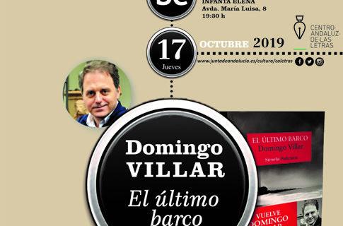 El escritor Domingo Villar presenta en Sevilla su nueva novela, 'El último barco'