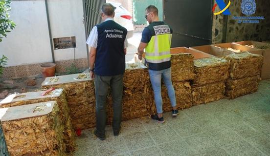 Incautadas tres toneladas de tabaco picado en una operación desarrollada en Sevilla, Jaén y Granada