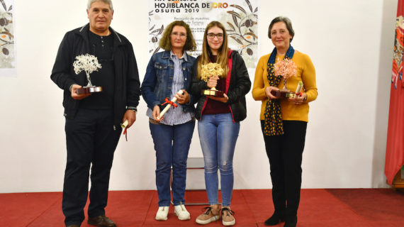 Entregados los olivos de oro, plata y bronce del XX Concurso de Aceituna 'Hojiblanca de oro' de Osuna