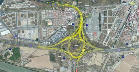Inician las obras de remodelación del enlace La Pañoleta y la reordenación de los accesos a Camas