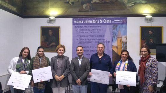 La Escuela Universitaria de Osuna entrega los premios del II Concurso de Ideas y Proyectos