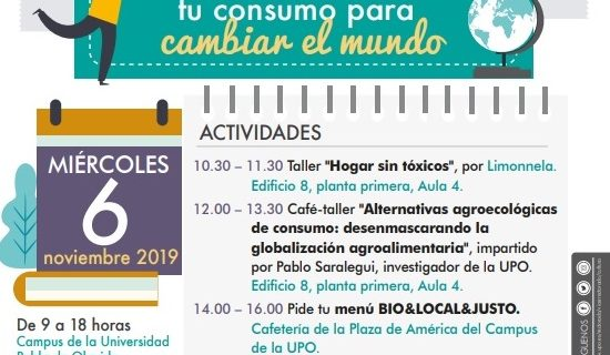 La Pablo de Olavide celebra la II Feria del Consumo Sostenible