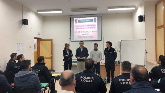 La Policía Local de Alcalá recibe formación para las pruebas de detección y control de drogas