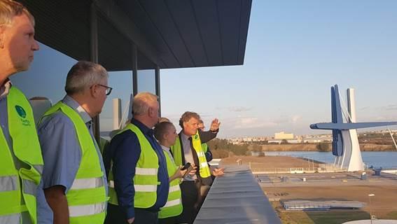 La Autoridad Portuaria de Sevilla recibe a una delegación de directivos del puerto danés de Aalborg