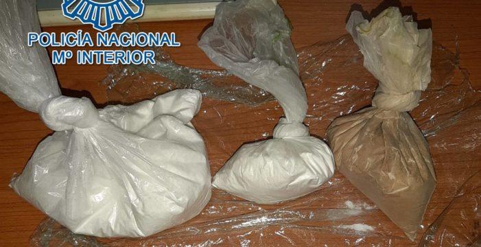 Detenido por portar cocaína y heroína para abastecer puntos de venta de droga en Los Pajaritos