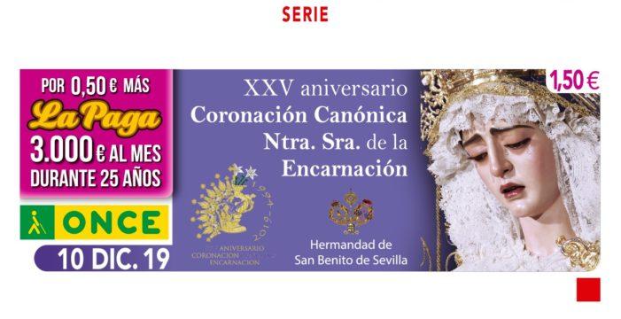 La ONCE se suma a la celebración de los 25 años de la coronación de la virgen de la Encarnación de San Benito