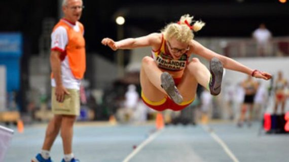 La tomareña Sara Fernández, de la Escuela Municipal de Atletismo, octava del mundo en Salto de Longitud