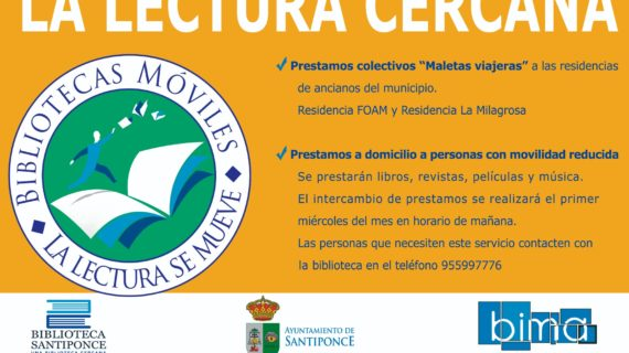 'Maletas viajeras', la nueva forma de acercar la lectura a las personas con problemas de movilidad en Santiponce