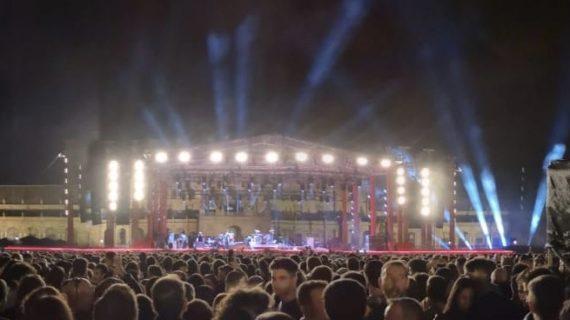 La Plaza de España reabre con normalidad tras acoger a los 10.000 asistentes al concierto de Green Day