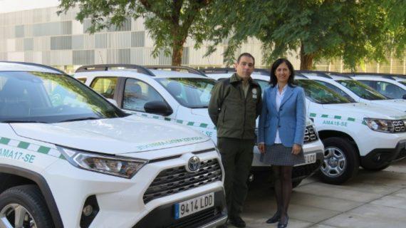 La Junta entrega siete nuevos vehículos para Agentes de Medio Ambiente