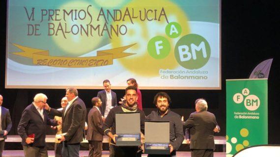 Premio a la promoción del balonmano playa en Utrera