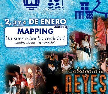 Guillena presenta un espectacular mapping como colofón a su Navidad