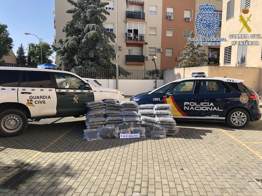 Desarticulada en Dos Hermanas una red europea de tráfico de drogas