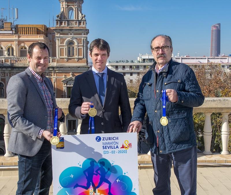 Triana, la Torre del Oro o la Real Maestranza protagonizan el cartel y la medalla del Zurich Maratón 2020