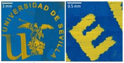 El logo de la US, primera imagen 3D con nanopartículas de oro estabilizadas con sistemas biodegradables y biocompatibles