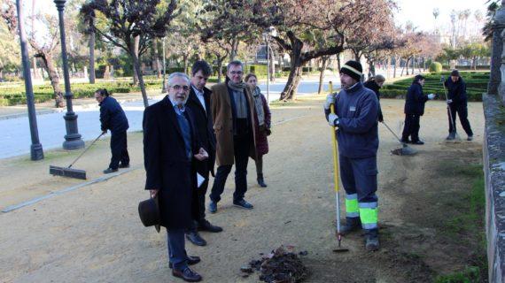 Un nuevo programa de empleo en el Parque de María Luisa contratará a 123 personas durante dos meses