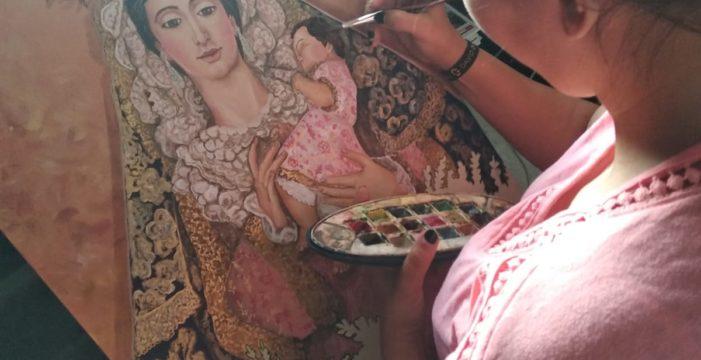 Sheila Criado, la artista alixeña que no concibe su vida sin un pincel en las manos