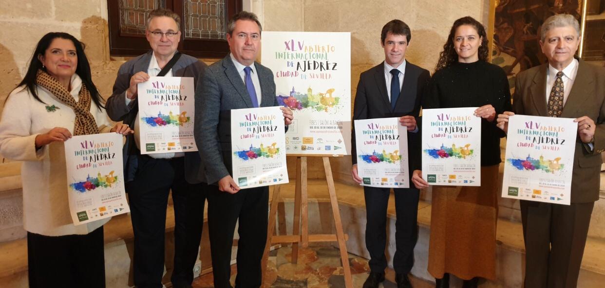 Casi 300 participantes de 31 países compiten en el XLV Open Sevilla de Ajedrez