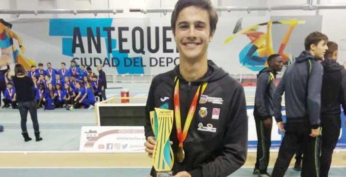 El atleta tomareño Alfonso García, campeón de España por Clubes Sub20