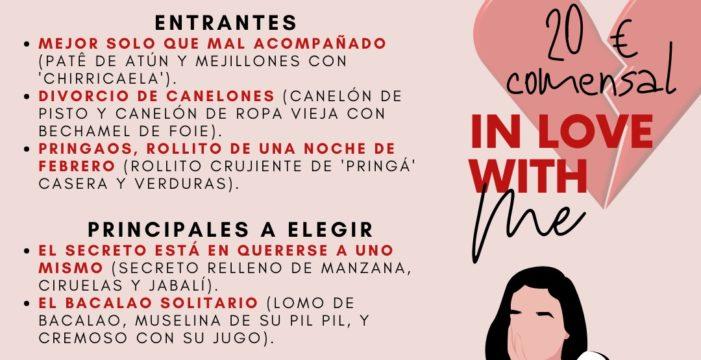 """Un restaurante de Gerena propone cenar """"contra San Valentín"""""""