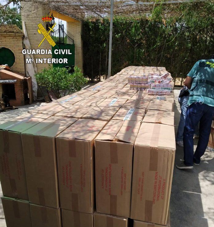 Intervienen 85.000 cajetillas de contrabando en la campiña sur