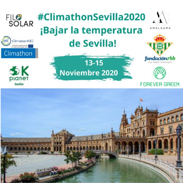 Cartel Climathon Sevilla 2020.