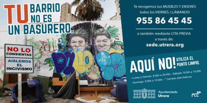 'Tu barrio no es un basurero', la nueva campaña de concienciación de Utrera