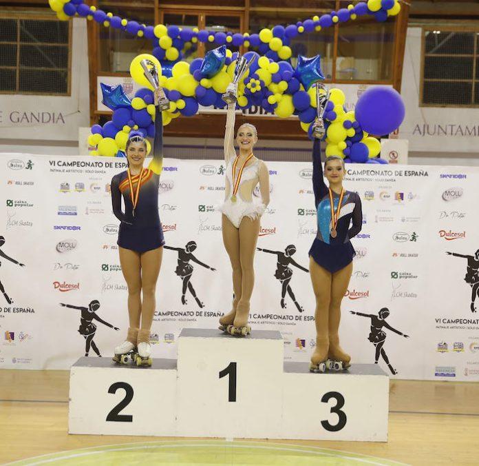 La escuela de patinaje artístico de Tomares, cantera de campeonas de España