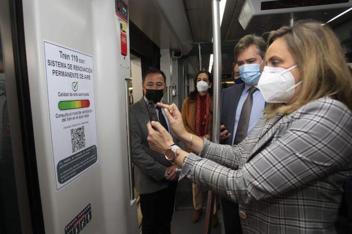 Los usuarios de Metro Sevilla podrán conocer en tiempo real la calidad del aire en los trenes
