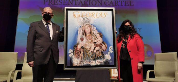 La Virgen del Amparo protagoniza el cartel de las Glorias de Elena Montero