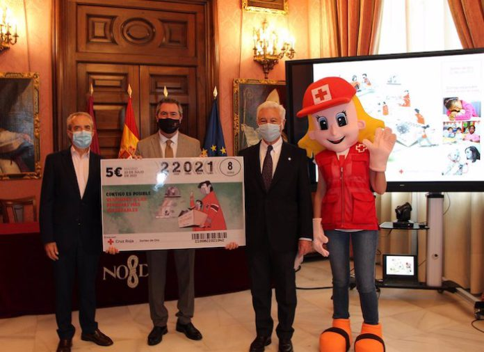 Sevilla y Cruz Roja apelan a la solidaridad de los sevillanos con ocasión del tradicional Sorteo de Oro