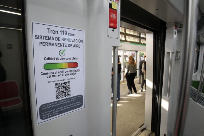 Metro de Sevilla extiende a su web y app la información de la calidad del aire en los trenes