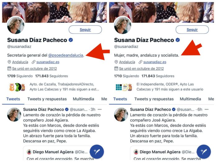 El Twitter de Susana Díaz ya refleja su