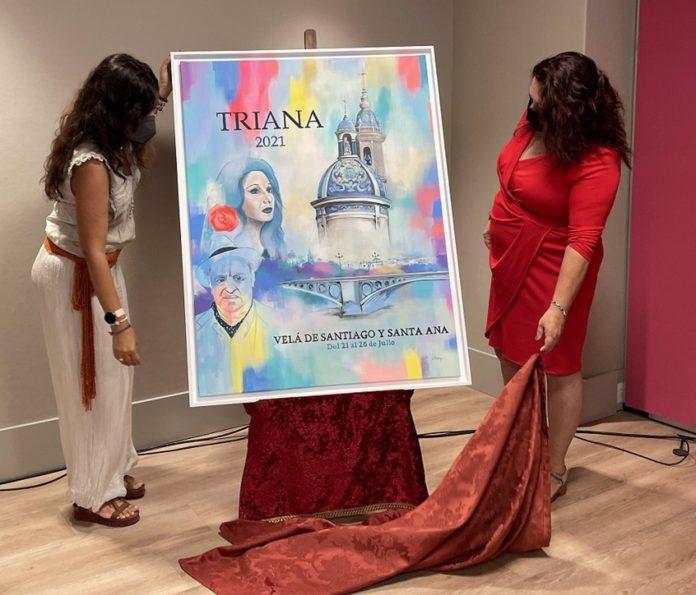Presentado el cartel de la Velá de Triana, que no tendrá casetas ni eventos en la calle