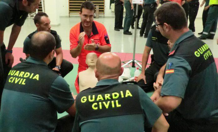 El 061 entrenará en primeros auxilios a 450 guardias civiles del Grupo de Reserva y Seguridad